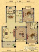 南越・西城华府3室2厅2卫118平方米户型图