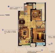 金科财富商业广场2室2厅1卫81平方米户型图