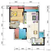 元嘉金江春天1室2厅1卫68平方米户型图