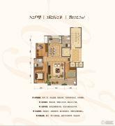 棠悦3室2厅2卫132平方米户型图