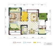 远达春天里3室2厅1卫86平方米户型图
