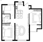 西美花盛3室2厅1卫0平方米户型图