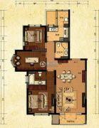 中建・御澜世家3室2厅2卫135平方米户型图