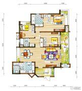 新鸿基悦城3室2厅2卫147平方米户型图