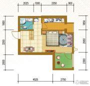仁恒国际领寓1室1厅1卫46平方米户型图