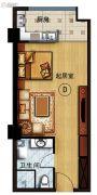 长安公馆1室1厅1卫55平方米户型图