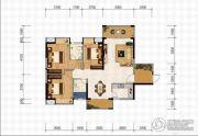 米兰公馆3室2厅2卫0平方米户型图