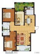 万国园星洲美域3室2厅2卫124平方米户型图