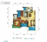 世豪金河谷5期3室2厅2卫88平方米户型图