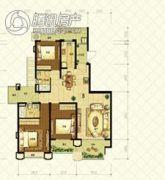 恒大山水城4室3厅3卫138平方米户型图