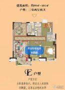 茂业观园 高层3室2厅2卫99--101平方米户型图