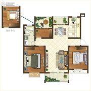 格林悦城3室2厅2卫101平方米户型图