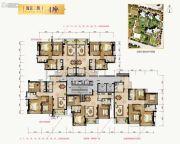 合景新鸿基泷景3室2厅2卫96--133平方米户型图
