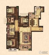 恒大翡翠华庭4室2厅2卫153平方米户型图