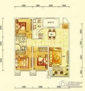华润幸福里3室2厅1卫112平方米户型图
