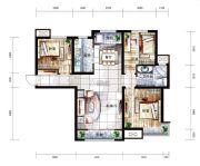 中国铁建国际城3室2厅1卫120平方米户型图