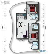 辽宁云基地院士海1室1厅2卫0平方米户型图