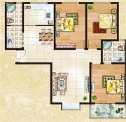 一品臻境3室2厅2卫0平方米户型图