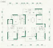 自由人花园4室2厅3卫183平方米户型图
