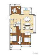 万通时尚公馆3室2厅2卫120平方米户型图