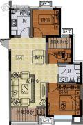 国信紫玉台3室2厅1卫86平方米户型图