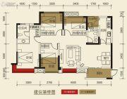 保利玫瑰花语4室2厅2卫111平方米户型图