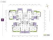 珑山居3室2厅2卫96--110平方米户型图