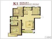 京西・金泰丽湾3室1厅2卫100--102平方米户型图