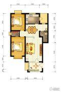 水静界2室2厅1卫96平方米户型图