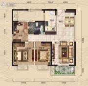 中冶・39大街3室2厅1卫98平方米户型图