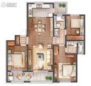 朗诗滨湖绿郡3室2厅2卫130平方米户型图
