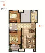 社会山西苑2室2厅1卫92平方米户型图