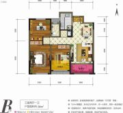天朗大兴郡3室2厅1卫94平方米户型图