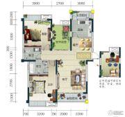 春华星运城3室2厅2卫117--119平方米户型图