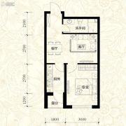 雍华御景1室2厅1卫51平方米户型图