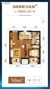 温泉新都孔雀城1室1厅1卫50平方米户型图