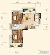 香樟里2室2厅1卫74平方米户型图