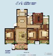 海亮御锦园4室2厅2卫128平方米户型图