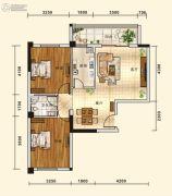 五堰・新天地2室2厅1卫83平方米户型图