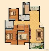 福泰御河湾3室2厅1卫93平方米户型图