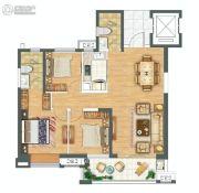 金科城3室2厅2卫124平方米户型图