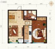宏泰铂郡1室2厅1卫0平方米户型图