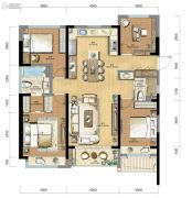 长龙・领航城4室2厅2卫0平方米户型图