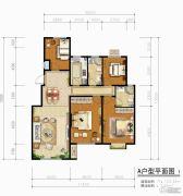 青啤・��悦湾4室2厅1卫123平方米户型图