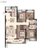 奥园・学府里4室2厅2卫131平方米户型图