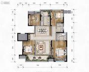 华润琨瑜府3室2厅2卫127平方米户型图