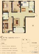 海悦名门3室2厅2卫127平方米户型图