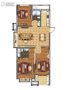 上城印象3室2厅2卫109平方米户型图