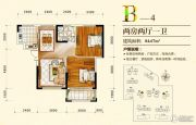 万和・新希望2室2厅1卫84平方米户型图