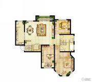 香江湾3室2厅2卫0平方米户型图